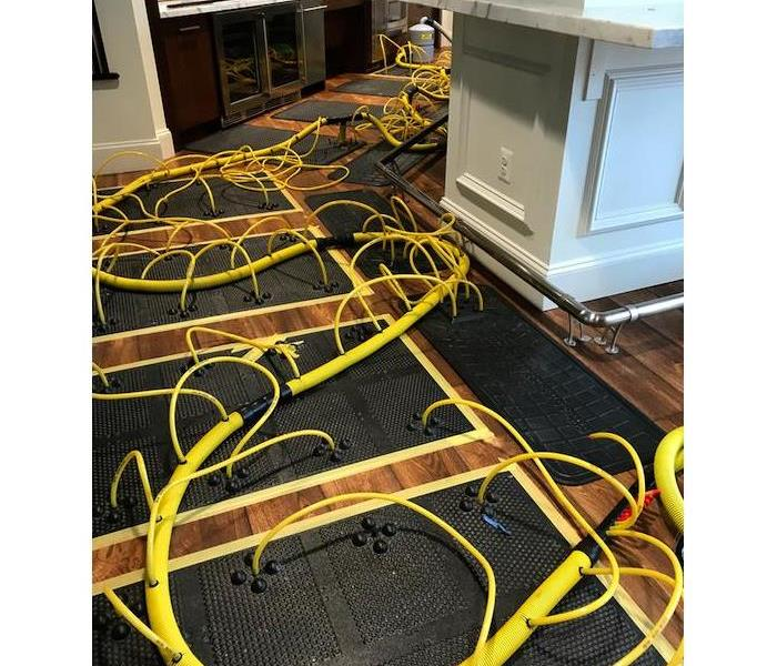 Floor Dryers vs. Dried Floor Before